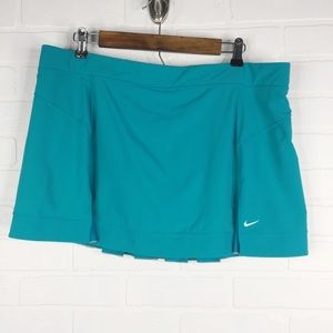 Nike Tennis Skort Fit Dry Blue XL Athletic Skirt